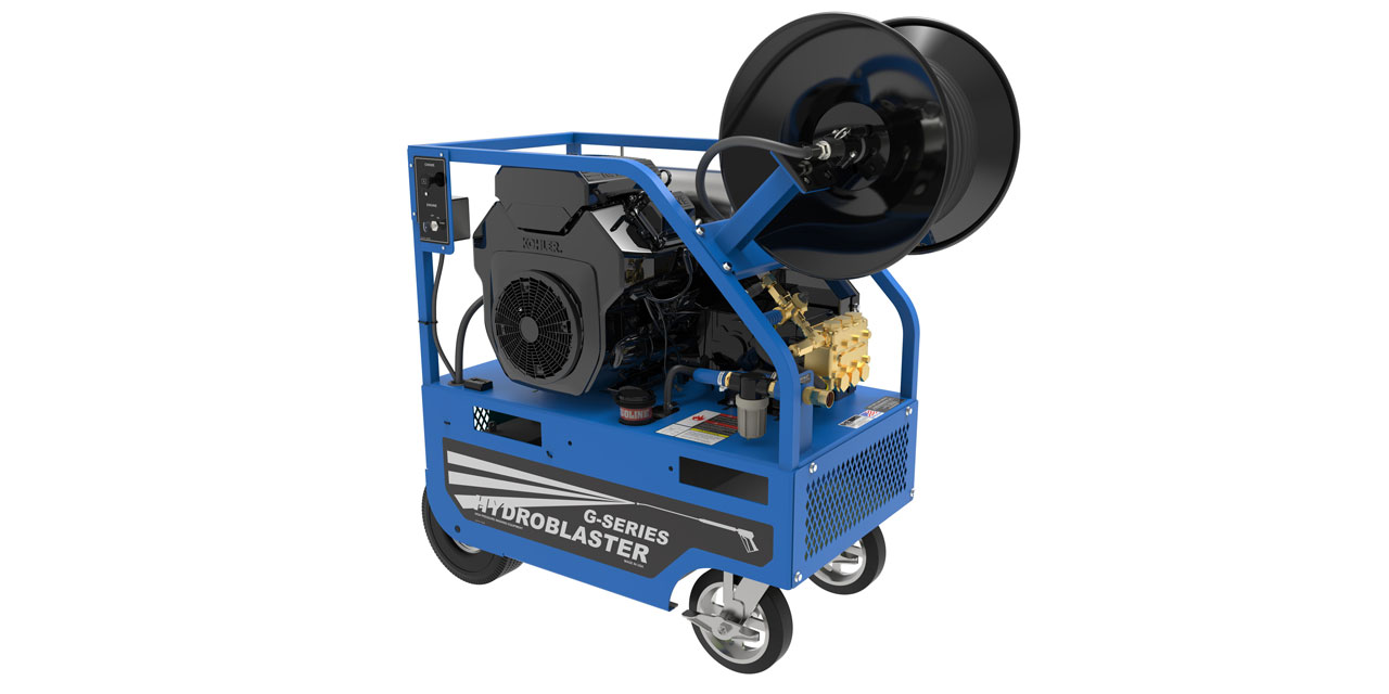 Cold water pressure washers with optional reel