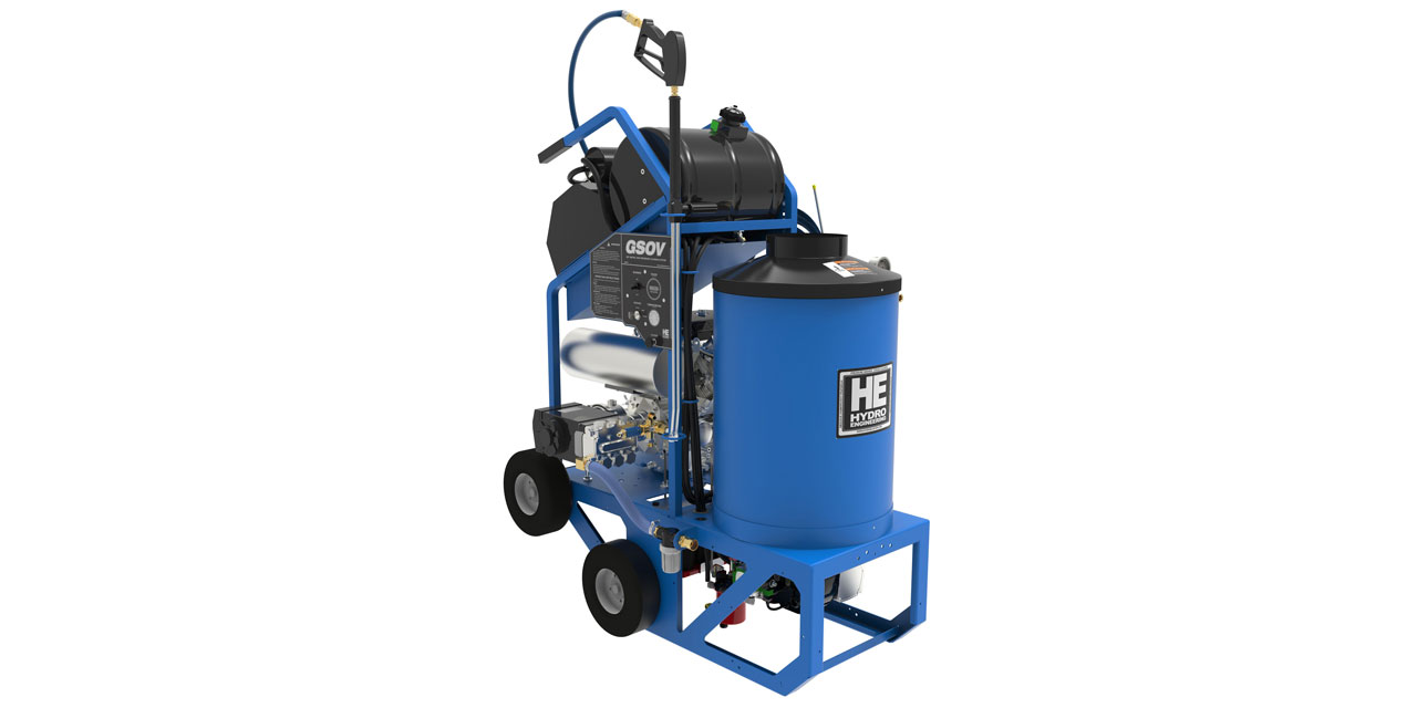 Compact gas pressure washer
