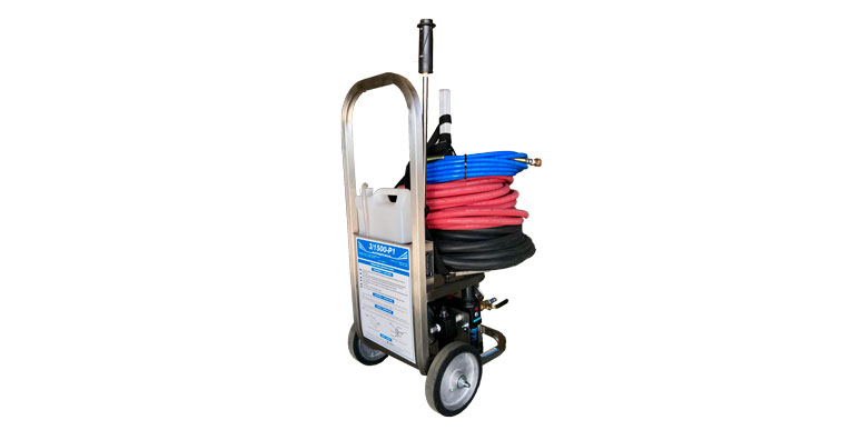 Compressed air power washer