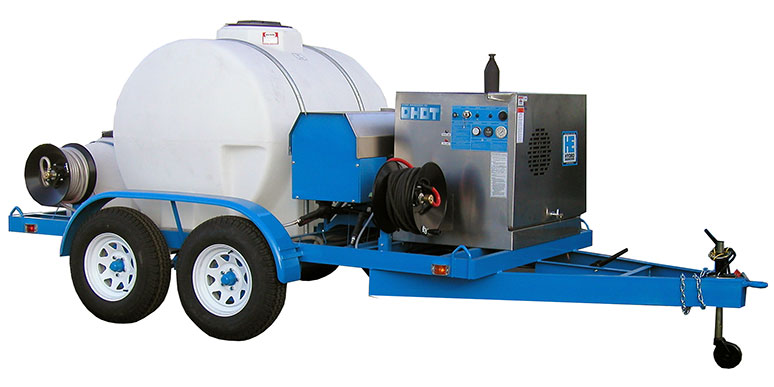 Pressure washer trailer packages