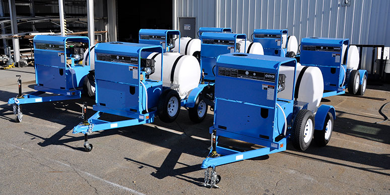 Contract Cleaning Pressure Washer Trailers