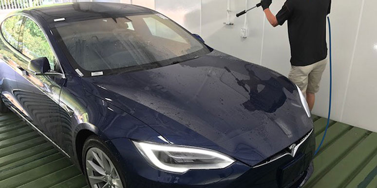 Instant car washing