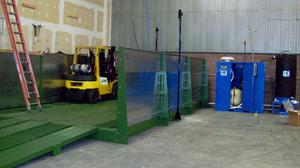 Equipment wash rack